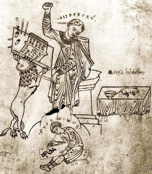 Augustine De Civitate Dei 1100s Apprentice Everwinus + Master Hildebertus Prague, The Metropolitan Chapter Library. Ms. A XXI-1. f. 153v.